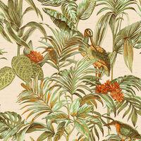 DUTCH WALLCOVERINGS zöld paradicsommadaras tapéta