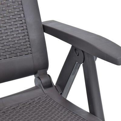 vidaXL 2 db mokka dönthető műanyag kerti szék