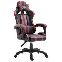 vidaXL bordó műbőr gamer szék