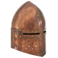 vidaXL rézszínű antik középkori lovagi acélsisak LARP másolat