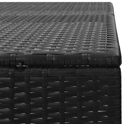 vidaXL fekete polyrattan kukatároló 3 db kerekes kukához 229x78x120cm
