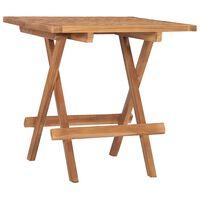 vidaXL összecsukható tömör tíkfa kerti asztal 50 x 50 x 50 cm