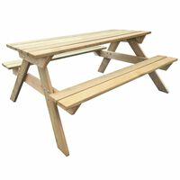 vidaXL fa piknik asztal 150 x 135 x 71,5 cm