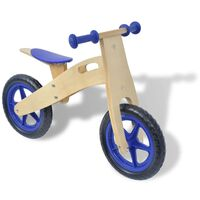 vidaXL lábbal hajtható fa kerékpár kék