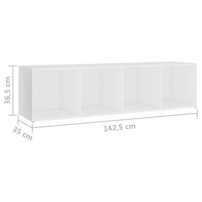 vidaXL 3 részes fehér forgácslap TV-szekrényszett