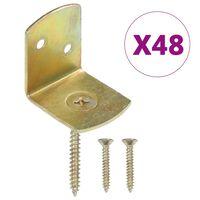 vidaXL 48 db L alakú horganyzott fém kerítéspaneltartó