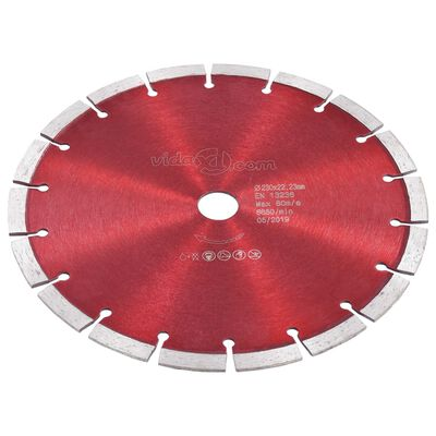 vidaXL 2 db gyémánt vágókorong acéllal 230 mm