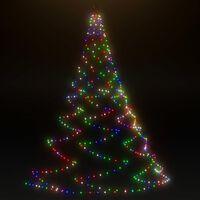 vidaXL fémhorgos fali fa 260 színes LED-del 3 m