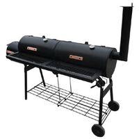 vidaXL NEVADA fekete, füstölővel kombinált grillező XL