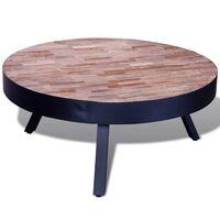vidaXL kör alakú újrahasznosított tíkfa dohányzóasztal