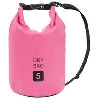 vidaXL rózsaszín PVC szárazzsák 5 L