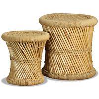 vidaXL 2 db bambusz és juta ülőke