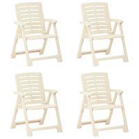 vidaXL 4 db fehér műanyag kerti szék