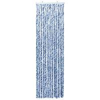 vidaXL kék és fehér zsenília rovarfüggöny 90 x 200 cm