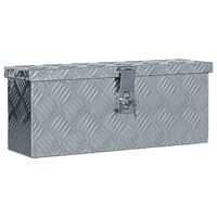 vidaXL ezüstszínű alumíniumdoboz 48,5 x 14 x 20 cm