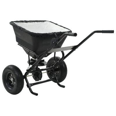 vidaXL tolható sószóró kocsi PVC/acél 106 x 73 x 76 cm 45 literes