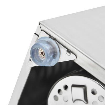 vidaXL 6 rekeszes négyszög alakú rozsdamentes acél evőeszköz-tároló