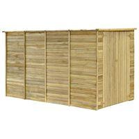 vidaXL impregnált fenyőfa kerti fészerház 315 x 159 x 178 cm