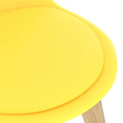 vidaXL 7 részes sárga étkezőszett