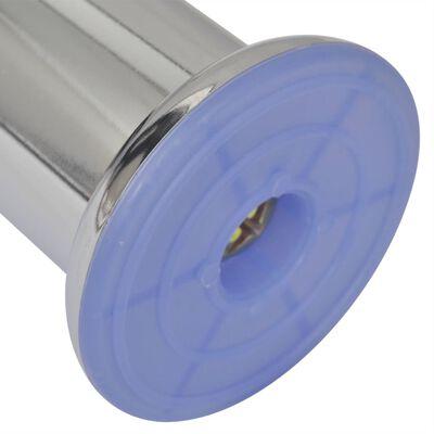 vidaXL 8 db kerek króm kanapéláb 60 mm