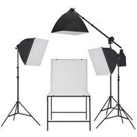 vidaXL fotó stúdió szett, softbox fényekkel és tárgyfotó asztallal