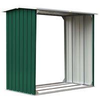 vidaXL zöld horganyzott acél kerti tűzifatároló 172 x 91 x 154 cm