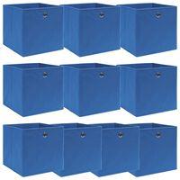 vidaXL 10 db kék szövet tárolódoboz 32 x 32 x 32 cm