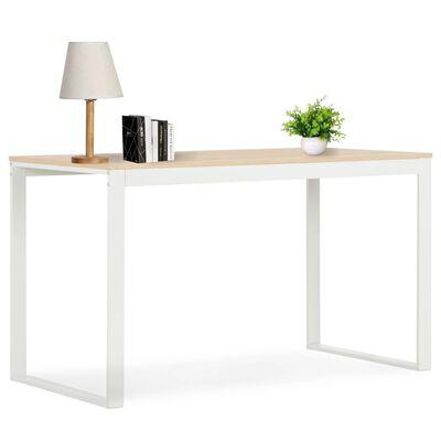 vidaXL fehér és tölgyszínű számítógépasztal 120 x 60 x 70 cm