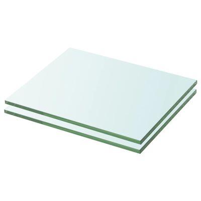 vidaXL 2 db átlátszó üveg paneles polc 20 x 20 cm