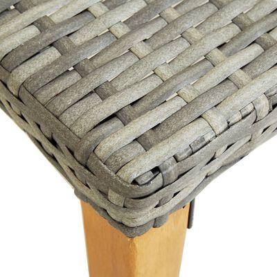 vidaXL szürke polyrattan kerti pad 80 cm