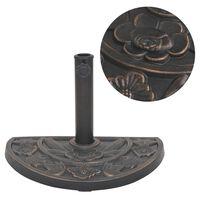 vidaXL félkör alakú, bronz színű gyanta napernyő talp 9 kg