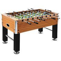 vidaXL világosbarna és fekete csocsóasztal 60 kg 140 x 74,5 x 87,5 cm