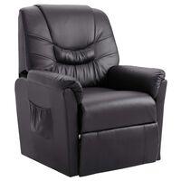 vidaXL szürke műbőr dönthető szék