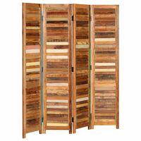 vidaXL szobaelválasztó fal újrahasznosított tömör fából, 170 cm