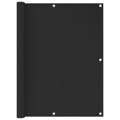 vidaXL antracitszürke HDPE erkélynapellenző 120 x 500 cm
