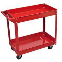 Műhely Szerszám Kocsi 100 kg Vörös