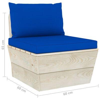 vidaXL impregnált lucfenyő kerti raklap középső kanapé párnákkal