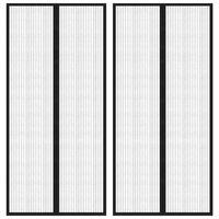 vidaXL 2 darab fekete rovarfüggöny mágneses blokkokkal 220 x 110 cm