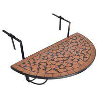vidaXL terrakotta mozaik felakasztható erkély asztal