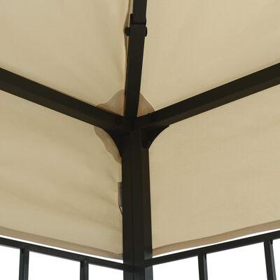 vidaXL krémszínű pavilon 3 x 4 m