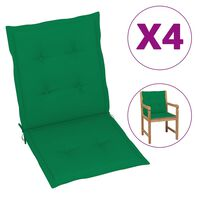vidaXL 4 db zöld kerti székpárna 100 x 50 x 4 cm