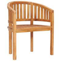 vidaXL tömör tíkfa banán alakú szék