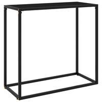 vidaXL fekete edzett üveg tálalóasztal 80 x 35 x 75 cm