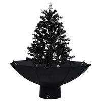 vidaXL fekete PVC havazó karácsonyfa ernyő alakú talppal 75 cm