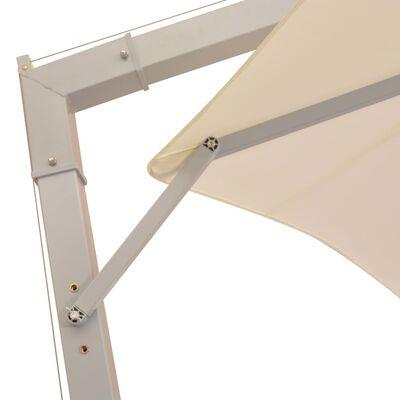 vidaXL lógó, homokszínű napernyő alumínium rúddal 350 cm