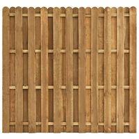 vidaXL hit & miss stílusú fenyőfa kerítéspanel 180 x 170 cm