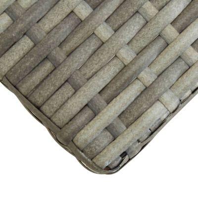 vidaXL szürke polyrattan és tömör akácfa kerti pad 120 cm