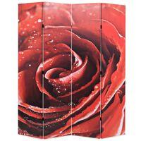 vidaXL piros rózsa mintás paraván 160 x 170 cm