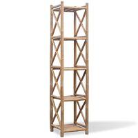 5 szintes szögletes bambusz polc