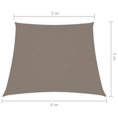 vidaXL tópszínű trapéz alakú oxford szövet napvitorla 3/4 x 3 m